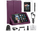 EEEKit 12in1 Kit for 2014 Fire HD 7 Case Cover+OTG cable/Card Reader+Car Charger
