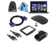 EEEKit Wireless Mouse+HDMI/VGA Cable+USB Hub for ASUS X551MAV-EB01-B 15.6 inch