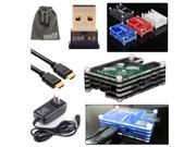 EEEKit for Raspberry Pi B+/2 Model B,Sliced Case Black+Bluetooth Dongle+HDMI Cable