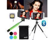 EEEKit for iPhone 6/Plus,Bluetooth Selfie Stick Monopod/Tripod Mount+LED Light