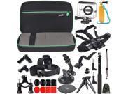EEEKit for Xiaomi Yi Camera,Carry Case+Waterproof Case+Accessories Mount Kit