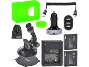 EEEKit for Xiaomi Yi Cam,Battery Charger+2 Battery+Car Charger/Mount+Cable+Case