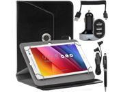 EEEKit for ASUS ZenPad,Folio Rotating Case+Car charger+Cable+Earphone+Stylus