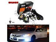 55W HID Xenon 9004-H/L 15000KBi-xenon Hi/Lo Conversion KIT Slim Ballast Bulb Headlight Lamp