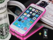 "RoseRed Aluminum Bumper Frame Case Cover + Tempered Screen Protector for 4.7"" iPhone 6"