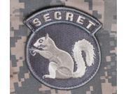 Mil-Spec Monkey Secret Squirrel Patch ACU-Light New Velcro Back