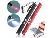 1mW 4 in1 Stylus Pen W/ Anti-dust Plug LED Light Laser For iPhone 5 4S Galaxy S4