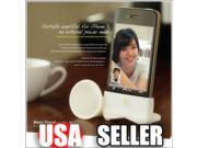Wireless Cute Rubber Silicone Horn Stand Amplifier Speaker Dock For iPhone 4S 4G