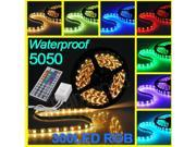5M 5050 RGB SMD Flexible Strip LED Light Lamp Waterproof 300 LEDs + 44 Key IR Remote Controller
