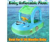 Inflatable Infant Baby Float Seat Boat Tube Ring Car Sun shade Swim Swimming Pool Blue