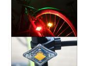 Rechargeable Flash USB 2 LED Cycling Bike Bicycle Headlight Front Rear Tail Light safety