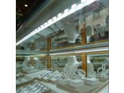 50CM 5630 36 SMD Cool White Rigid LED Hard Strip Bar Light Aluminium Shell End Fixture DC 12V