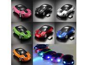 Ideal For Any User 1600DPI 2.4G 3D Car Shape Wireless Optical Mouse Mice For Laptop PC USB Receiver 7Colours
