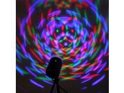 3W LED Crystal Voice-activated RGB Stage Rotating Light Lamp Bulb DJ Lighting Disco KTV Bar Club Show Party Christmas Xmas Decoration + Bracket