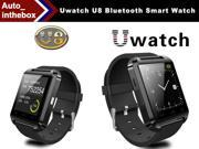 Uwatch U8 Smart Watch Bluetooth Smart Wear Black Color WristWatch U Watch for iPhone and Android Smart Phone