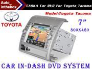 "CASKA Standard Car In-Dash DVD Receiver Navigation GPS for Toyota Tacoma - 7"" 800X480 Touch Screen  + Builted in NAV with Sygic Map"
