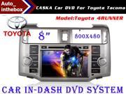 "CASKA Standard Car In-Dash DVD Receiver Navigation GPS for Toyota 4RUNNER - 8"" 800X480 Touch Screen + Builted in NAV with Sygic Map"