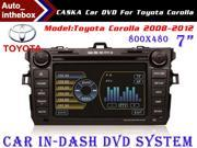"CASKA Standard Car In-Dash DVD Receiver Navigation GPS for Toyota Corolla 2008-2012 - 7"" 800X480 Touch Screen + Builted in NAV with Sygic Map"