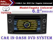 "CASKA Standard Car In-Dash DVD Receiver Navigation GPS for Toyota Universal Model - 6.2"" 800X480 Touch Screen  + Builted in NAV with Sygic Map"