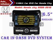 "CASKA Standard Car In-Dash DVD Receiver Navigation GPS for Honda City 2008-2010 - 6.5"" 800X480 Touch Screen  + Builted in NAV with Sygic Map"