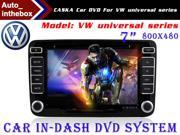 "CASKA Standard Car In-Dash DVD Receiver Navigation GPS for VW Universal Series - 7"" 800X480 Touch Screen + Builted in NAV with Sygic Map"