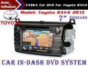 "CASKA Standard Car In-Dash DVD Receiver Navigation GPS for Toyota RAV4 2013 - 7"" 800X480 Touch Screen  + Builted in NAV with Sygic Map"