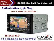 "CASKA CA1624-KR7 Car DVD Player In-Dash System - Suitable for Universal Models Vehicles - 7"" 800X480 Screen, 128MB Builted in NAV + Authorization Sygic Map"