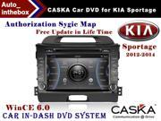 "CASKA Car DVD Player In-Dash System - Suitable for KIA Sportage 2012-2014 vehicles - 7"" 800X480 Screen, Builted in NAV + Authorization Sygic Map"