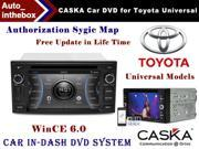 "CASKA Car DVD Player In-Dash System - Suitable for Toyota Universal Models Vehicles - 7"" 800X480 Screen, Builted in NAV + Authorization Sygic Map"
