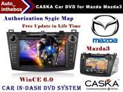"CASKA Car DVD Player In-Dash System - Suitable for Mazda Mazda3 2012-2013 Vehicles - 7"" 800X480 Screen, Builted in NAV + Authorization Sygic Map"