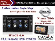 "CASKA Car DVD Player In-Dash System - Suitable for Nissan Tiida 2008-2010 / Nissan Universal Model Vehicles - 7"" 800X480 Screen, Builted in NAV + Authorization Sygic Map"