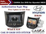 "CASKA Car DVD Player In-Dash System Suitable for Hyundai HB20 Vehicles - 7"" 800X480 Screen, Builted in NAV + Authorization Sygic Map"