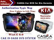 "CASKA CA422-MQ8 Car DVD Player In-Dash System - Suitable for Kia Sorento 2013 2014 Vehicles - 7"" 800X480 Screen, Builted in NAV + Authorization Sygic Map"