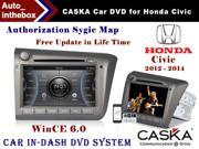 "CASKA CA277-KR7 Car DVD Player In-Dash System - Suitable for Honda Civic Vehicles - 7"" 800X480 Screen Builted in NAV + Authorization Sygic Map"