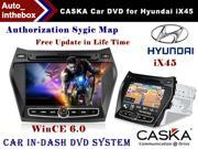 "CASKA Car DVD Player In-Dash System - Suitable for Hyundai iX45 Vehicles, 7"" 800X480 Screen, Builted in NAV + Authorization Sygic Map"
