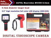 Autel Maxivideo MV400 Digital Videoscope with 8.5mm Diameter Imager Head 3.5'' High Resolution Full Color LCD Display (320×240)