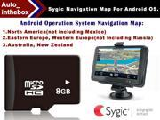Authorization SDB Sygic Genuine GPS Map Card for North America / Western Europe / Eastern Europe / Australia, New Zealand Online Update Maps Android 8GB Mirco Sd Card