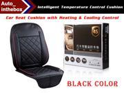 The Intelligent temperature control cushion Controlled Auto Seat Cushion with Heating & Cooling Control - Black