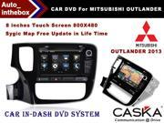 CASKA Car DVD CA353-S In-Dash DVD Player System 8'' Touch Screen 800X480, Windows CE 6.0 Navigation with Free Sygic Map -  For MITSUBISHI OUTLANDER 2013 OEM Standard Car