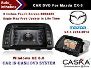 CASKA Car DVD CA350-RA4 In-Dash DVD Player System - 8 inches Touch Screen, 800X480, Windows CE 6.0 Navigation with Free Sygic Map - for Mazda CX-5 2013-2014 OEM Standard Car