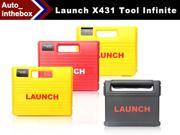 100% Original Launch X431 Tool Infinite 1 Year Free Update Online X-431 Tool Universal Car Scan Diagnostic Tool with color screen display + Bluetooth technology