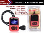 """Launch X431 R (Cresetter) Service/Oil Lamp Reset Tool with 2.8"""" color LCD display oil lamp and service lights reset + Brake pedal reset + Filter reset + Steering angle sensor calibration"""