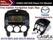 CASKA CAR DVD Player 4S3609G fit for Mazda2 2010-2014 Car in-dash unit OEM GPS Navigation standard with free sygic map High quality auto GPS and multimedia