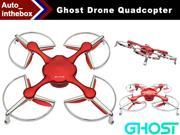 EHang Ghost Basic Drone Quadcopter Function FLY + EXPLORE + FILM Remote Flight control Smartphone operated Android Version - Red Color