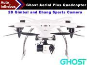 EHang Ghost Drone Aerial Plus Quadcopter With 2D Gimbal and Ehang Sports Camera Function FLY + EXPLORE + FILM Remote Flight control Smartphone operated Android Version - White Color
