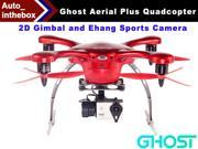 EHang Ghost Drone Aerial Plus Quadcopter With 2D Gimbal and Ehang Sports Camera Function FLY + EXPLORE + FILM Remote Flight control Smartphone operated Android Version - Red Color