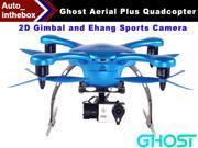 EHang Ghost Drone Aerial Plus Quadcopter With 2D Gimbal and Ehang Sports Camera Function FLY + EXPLORE + FILM Remote Flight control Smartphone operated Android Version - Blue Color