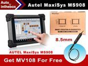 Autel MaxiSys MS908 WIFI/Bluetooth Smart Automotive Full System Diagnostic and Analysis System with LED Touch Display + free gift MaxiVideo MV108 8.5mm digital inspection camera