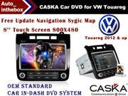 CASKA Car DVD Player - WinCE 6.0 - 8'' HD 800*480 OEM standard in-dash Car DVD System GPS Suitable for VW Touareg 2012 & up vehicles
