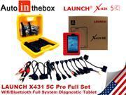 Original LAUNCH X431 5C Pro Replacement for  X431 V (X-431 Pro) Wifi/Bluetooth Android Scan Tablet Full System Univeral Car Diagnostic Tool Full Set Scanpad free online update